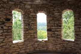 views outside stone windows